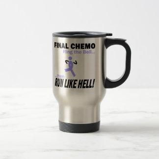 Le chimio final courent beaucoup - ruban de mug de voyage