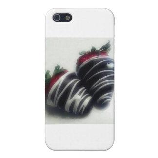 Le chocolat a plongé des fraises coques iPhone 5