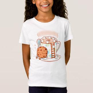 Le chocolat chaud badine le T-shirt d'illustration