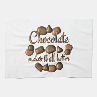 Le chocolat le rend meilleur serviette éponge