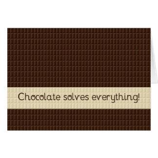 Le chocolat résout tout, encouragement cartes