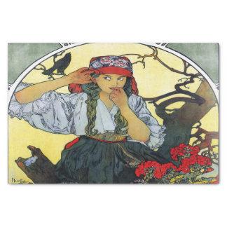 Le choeur 1911 des professeurs d'Alfons Mucha Papier Mousseline
