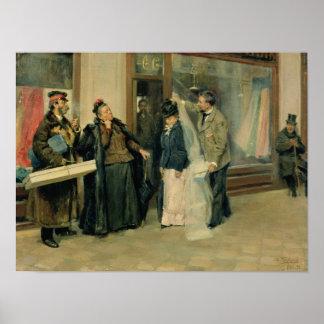 Le choix des cadeaux de mariage, 1897-98 affiches