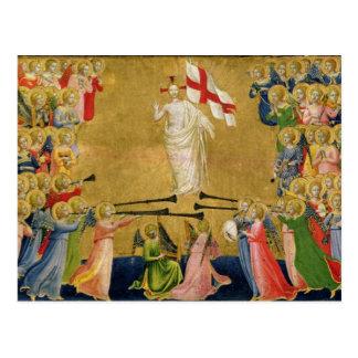 Le Christ a amélioré dans la cour du ciel, 1423-24 Carte Postale
