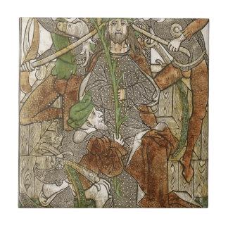 Le Christ a couronné avec des épines Petit Carreau Carré