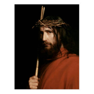 Le Christ avec des épines. Cartes postales de beau