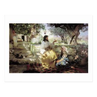 Le Christ avec Martha et Maria circa 1886 Carte Postale