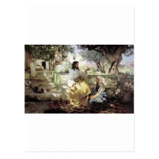 Le Christ avec Martha et Maria circa 1886 Cartes Postales