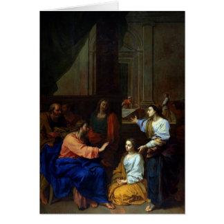 Le Christ avec Martha et Mary Carte De Vœux