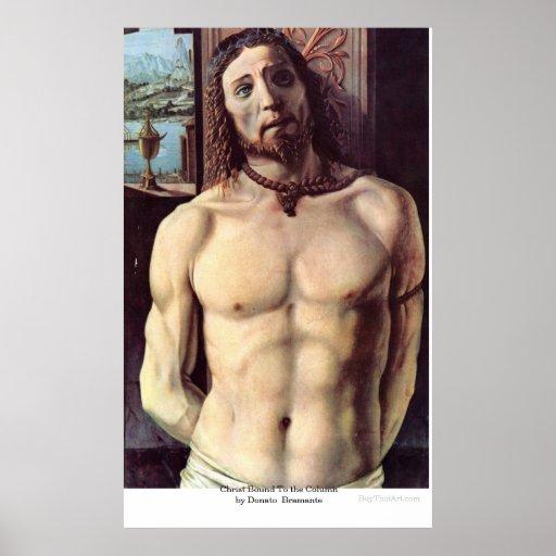 Le Christ bondissent à la colonne par Donato Brama Posters