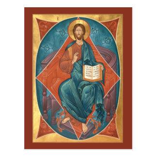 Le Christ dans la carte de prière de gloire Cartes Postales
