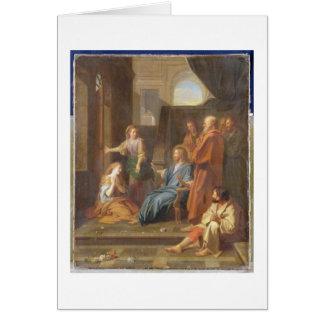 Le Christ dans la Chambre de Martha et de Mary Carte De Vœux