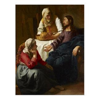 Le Christ dans la Chambre de Martha et de Mary Carte Postale