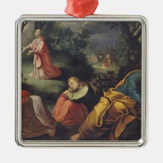 Le Christ dans le jardin des olives, 1625 Ornement Carré Argenté
