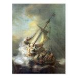 Le Christ dans une tempête sur la mer de la Galilé Cartes Postales