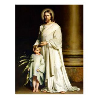 Le Christ et enfant. Cartes postales de Pâques de