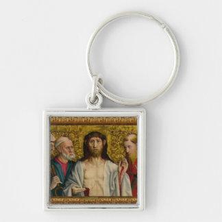 Le Christ et les douze apôtres Porte-clé Carré Argenté
