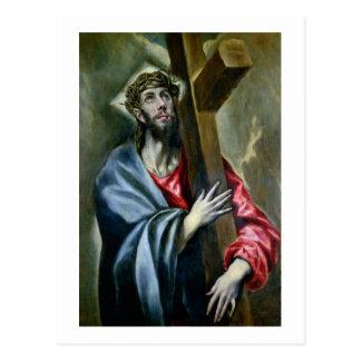Le Christ étreignant la croix, 1600-10 (huile sur Carte Postale
