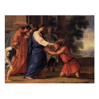 Le Christ guérissant l'homme aveugle par Eustache  Cartes Postales