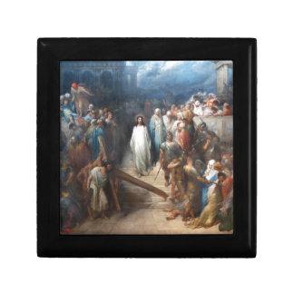 Le Christ laissant Praetorium Petite Boîte À Bijoux Carrée