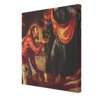 Le Christ lavant les pieds des disciples Toiles