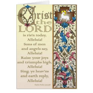 Le Christ le seigneur est aujourd'hui levée carte