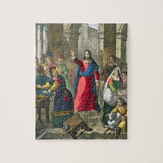 Le Christ nettoie le temple, d'un b imprimé par bi Puzzle