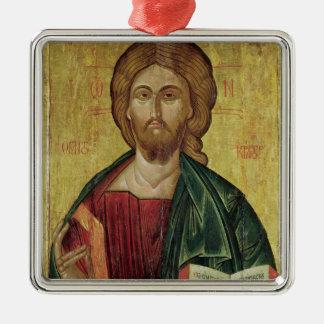 Le Christ Pantocrator, 1607 Ornement Carré Argenté