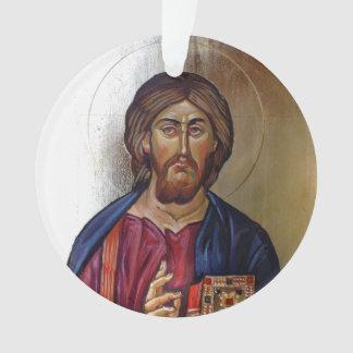 Le Christ Pantocrator et saint Mary Theotokos