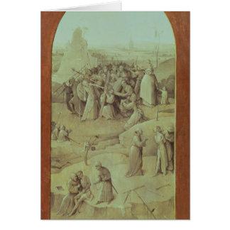 Le Christ sur la route vers le calvaire Carte De Vœux