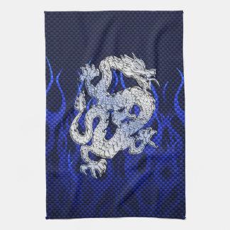 Le chrome bleu aiment le style de fibre de carbone serviette pour les mains