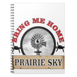 le ciel de prairie m'amènent à la maison carnet