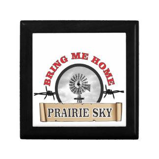le ciel de prairie m'amènent à la maison petite boîte à bijoux carrée
