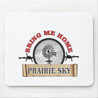 le ciel de prairie m'amènent à la maison tapis de souris