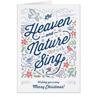 Le ciel et la nature chantent la carte de voeux de