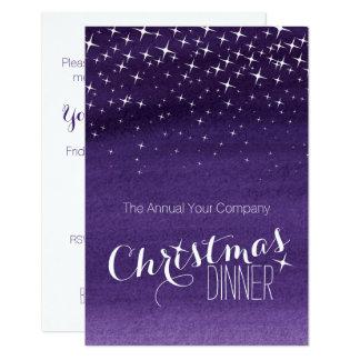 Le ciel nocturne de Noël tient le premier rôle le Carton D'invitation 8,89 Cm X 12,70 Cm