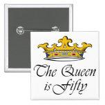 le cinquantième anniversaire la reine est 50 ! badge avec épingle