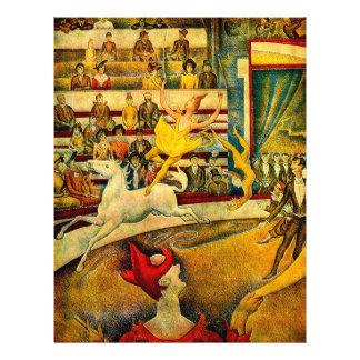 Le cirque de Georges Seurat (1891) Prospectus 21,6 Cm X 24,94 Cm