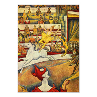 Le Cirque (le cirque) par Georges Seurat Carton D'invitation 8,89 Cm X 12,70 Cm