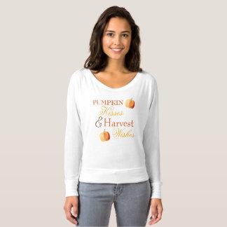 Le citrouille embrasse le T-Dessus d'automne de T-shirt