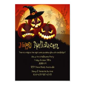 Le citrouille grimace l'invitation de Halloween