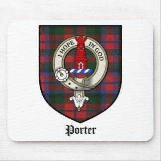 Le clan de portier Crest le tartan d'insigne Tapis De Souris