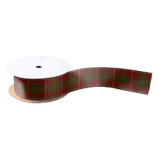 Le clan écossais font les foins le tartan ruban en satin