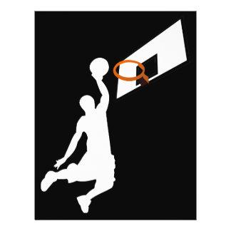 Le claquement trempent le joueur de basket - prospectus 21,6 cm x 24,94 cm