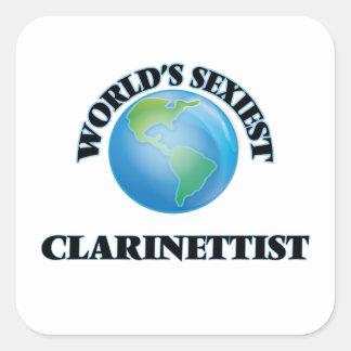 Le clarinettiste le plus sexy du monde sticker carré