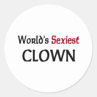 Le clown le plus sexy du monde adhésifs ronds