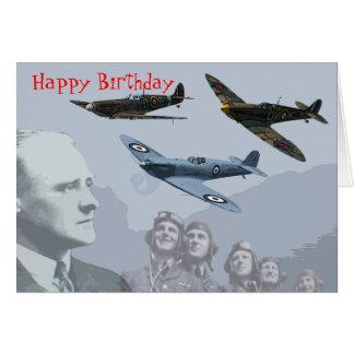 Le club de Spitfire - carte d'anniversaire