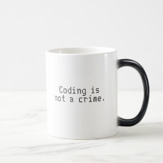 """Le """"codage n'est pas tasse changeante de couleur"""