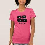 Le code aiment une fille t-shirt