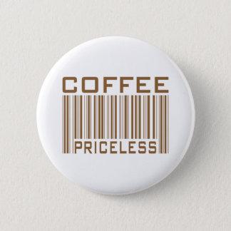 Le code barres inestimable de café pique des badge